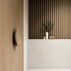 Ideas For Wall Paneling Detail Interior Design Interior Walls, Interior And Exterior, Stone Interior, Interior Plants, Interior Lighting, Wood Partition, Mim Design, Joinery Details, Pvc Wall