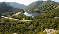 View of Franconia Notch State Park from Artists Bluff