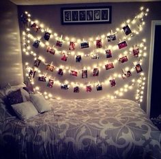 Cute way to hang pictures