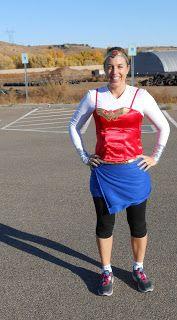 Wonder Woman Halloween Running costume