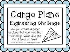 $ Cargo Plane: Engineering Challenge Project ~ Great STEM Activity!