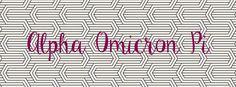 Geneologie | Greek Life | Sorority | Sisterhood | Freebie | Facebook Cover Photo | Alpha Omicron Pi | AOPi | Geometric | Free Download