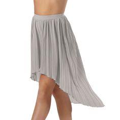 Pleated High-Low Hem Dance Skirt; Balera