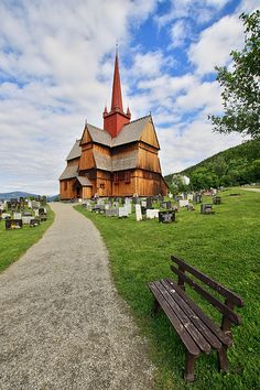 stave church, Ringebu, Norway