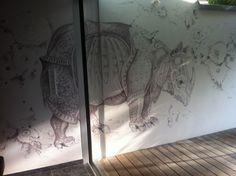 #Wandzeichnung nach A.Dürer von Gaby Roter / Konzept Ingrid Maria Buron de Preser#