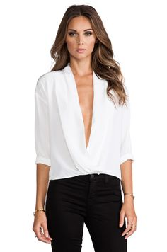 By Malene Birger Modern Elegance Popsi Top in Pure White