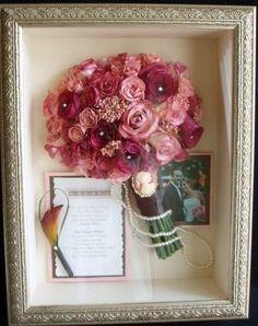 plum and gold wedding bouquet | Bouquet keepsake | Wedding memories