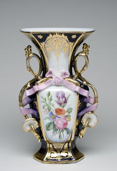Vase  Artist/maker unknown, French  Geography: Made in France, Europe Date: 19th century Medium: Hard-paste porcelain with gilt and enamel decoration