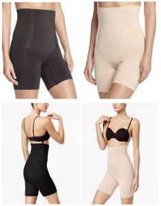32ad77bb4b82f NWT SPANX OnCore High-Waisted Mid-Thigh Short SS1915 BLACK NUDE MULTI SIZES