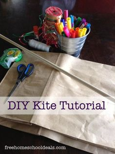 How to Make a craft Paper-Bag Kite -crafts tutorial idea for kids this summer.