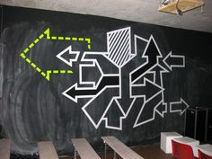 """Bild von Graffiti aus Klebeband- """"Exit"""""""