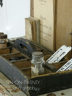 Workspace#athome#Ten-on-Twenty#vintage#industrial#brocante#shabby#stoer#wood