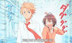 Anime/manga: Maid Sama Characters: Takumi and Misaki I Love Anime, Awesome Anime, Tsundere, Manga Anime, Read Anime, Anime Kiss, Usui Takumi, Misaki, Otaku