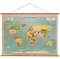 Carte du monde courants marins maps as representations of the last week this lovely huge old school map poster by ellie ellie from not on the high street arrived at our house freerunsca Choice Image