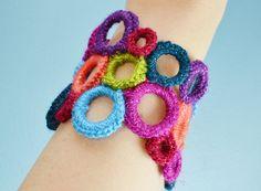 Crochet Cuff Bracelet tutorial from Reese Dixon