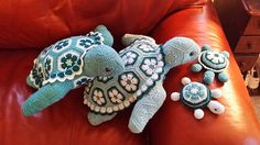 """The person who requested these Teal Turtle Twins also wanted the """"babies"""" to go with them. I have gotten so many wonderful comments about the babies that I have created a separate proje..."""