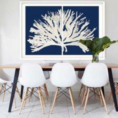Coral Blues | Framed Art | Hoxton Art House