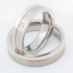 Two Matching Wedding Bands Promise Rings for by FirstClassJewelry, $84.00