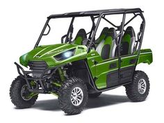 """Used 2014 Kawasaki Teryx4â""""¢ LE ATVs For Sale in Oklahoma. LE model offers more power, comfort and style than ever! The new more powerful Kawasaki Teryx4â""""¢ LE is the pinnacle of Side x Side performance and styling. Packing all of the latest Teryx4 upgrades like a larger and significantly more powerful 800 class V-twin, and all-new Fox Podium shocks that help it set new standards in performance, reliability and durability, the LE model adds extra style and comfort with custom touches that…"""