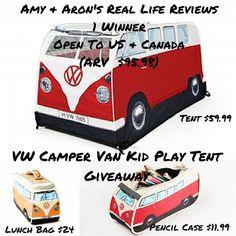 VW Camper Van Kid Play Tent Giveaway ends 10/8 #VDUBbus65
