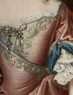 Workshop of Martin Van Meytens 1695 - 1770 , Maria Theresa, detail