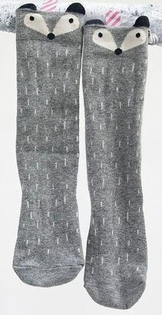 765dc8aa6b4 Cotton Baby Leg Warmers 1 Pair Unisex Baby Girl Boy Knee High Fox Socks  Kids Cute Cartoon