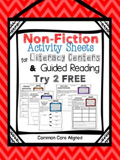 FREEBIE!!!!   Perfect classroom resource for teaching NON-FICTION! Great for Literacy Centers and Guided Reading! Upper Elementary