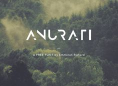 Anurati Free Font #freefonts #fontsfordesigners #typefaces #handlettering #typography