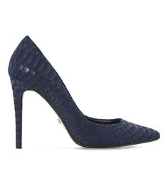 DUNE Aiyana Reptile-Effect Courts. #dune #shoes #heels