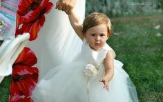 My most precious flower girl, granddaughter Grace