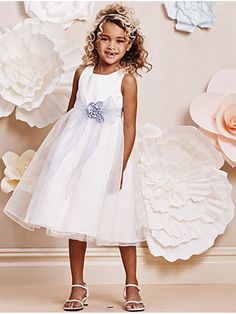 Ball Gown Knee-length Flower Girl Dresses