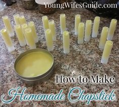 Making Your Own Homemade Chapstick on Young Wife's Guide at http://youngwifesguide.com/making-your-own-homemade-chapstick/