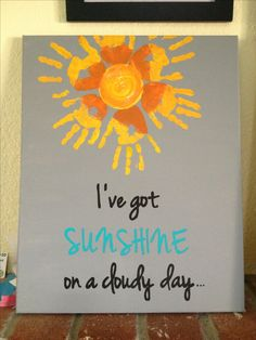 """Made this sign for my gallery wall. My girls' handprints and verse from """"my girl"""". :-)"""