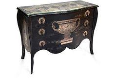 Decoupage Wood Dresser
