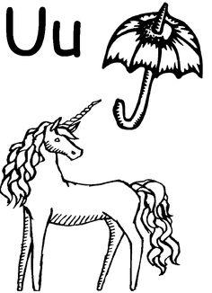 Alphabet Letter U Worksheet | Short U | Standard Block Font ...