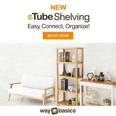 JUST IN: New zTube Shelving, available in 4 colors and 3 sizes. Shop Now! http://www.waybasics.com/shop/s/ztube_shelving.html