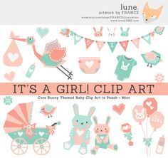 Hey, I found this really awesome Etsy listing at https://www.etsy.com/listing/173926790/its-a-girl-baby-clipart-elements