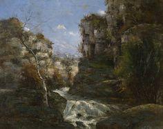 https://upload.wikimedia.org/wikipedia/commons/a/a8/Gustave_Courbet_-_Rochers_pr%C3%A8s_d'_Ornans_(KMSKA).jpg