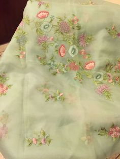 Cutwork Saree, Embroidery Saree, Simple Kurta Designs, Saree Floral, Eastern Dresses, Jamdani Saree, Jute, Elegant Saree, Embroidered Clothes