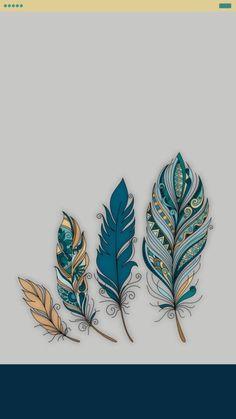 Lockscreen feather vintage