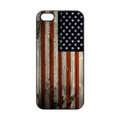 iPhone 5 Case Wood Print iPhone 5s Case American Flag by GFCASE, $11.99