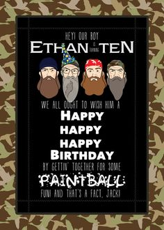 "Photo 3 of 13: Duck Dynasty / Birthday ""Duck Dynasty Paintball 10th Birthday"" 