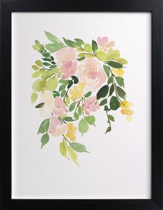 Click to see 'Flora in Peach I' on Minted.com