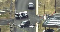 NSA shooting: 1 dead after 2 men dressed as women tried to crash gate outside Fort Meade Crazy News Stories, Fort Meade, Open Fires, Car Crash, Police Cars, Ny Times, Maryland, The Outsiders, Autos