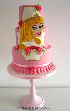 Princess Aurora - Cake by Daantje Girly Cakes, Cute Cakes, Aurora Cake, Sleeping Beauty Cake, Jasmine Cake, Disney Cakes, Christmas Cupcakes, Birthday Cake Girls, Novelty Cakes