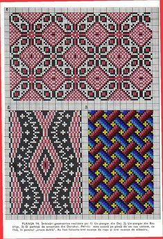 *etnobiblioteca*: Culegere de cusături populare de Leogadia Ștefănucă Embroidery Patterns, Hand Embroidery, Simple Cross Stitch, Craft Patterns, Bohemian Rug, Diy Crafts, Costumes, Traditional, My Love