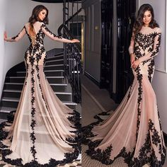 Cheap gown bag, Buy Quality gown meaning directly from China gown disposable Suppliers: Mermaid Prom Dresses Long 2016 Full Lace Appliques Chiffon Long Sleeve Floor-Length Plus Size Prom Party Gowns vestidos de gala Evening Dress Long, Evening Gowns With Sleeves, Prom Dresses Long With Sleeves, Mermaid Evening Dresses, Tulle Prom Dress, Homecoming Dresses, Sexy Dresses, Formal Dresses, Evening Party
