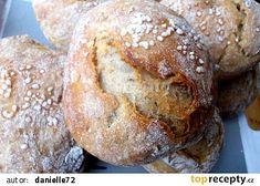 Křupavé dalamánky za kačku recept - TopRecepty.cz Slovak Recipes, Czech Recipes, Home Recipes, Cooking Recipes, Bread And Pastries, Breakfast Bake, Ciabatta, Bread Rolls, Bread Baking