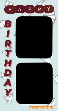#stories #template #happybirthday #instagram Birthday Posts, Birthday Frames, Birthday Cards, Birthday Captions Instagram, Birthday Post Instagram, Happy Birthday Template, Happy Birthday Quotes For Friends, Instagram Frame Template, Picture Templates