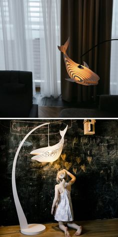 Add a magical touch with these whale lamps.